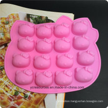 16 Silicone Tray Pop Cake Stick Mould, Hello Kitty Design